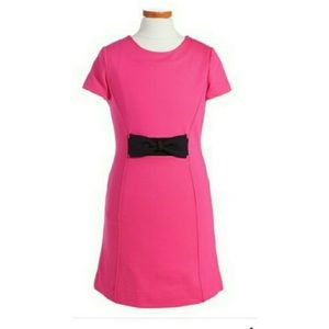 Girls Kate Spade pink dress with a black bow